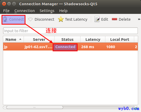 连接shadowsocks